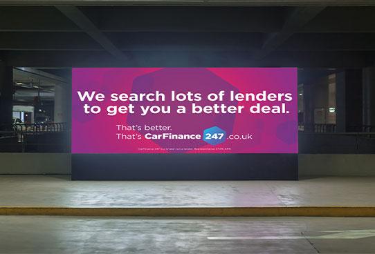 car finance digital billboard