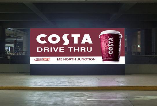 costa digital billboard