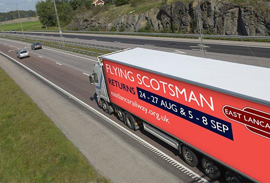 flying scotsman hgv ad