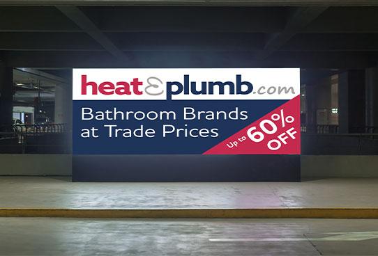 heat and plumb digital billboard