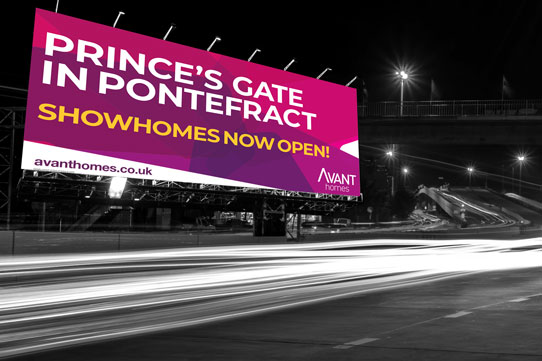avant homes billboard